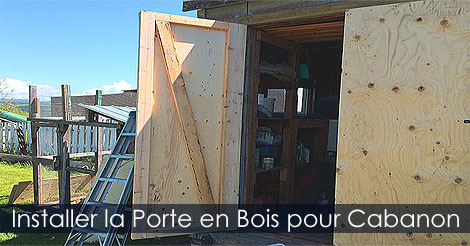 installer une porte de cabanon abri de jardin pentures. Black Bedroom Furniture Sets. Home Design Ideas