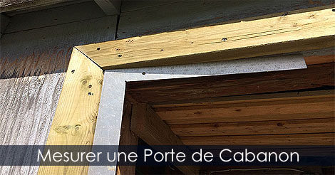 construire et installer une porte de cabanon remise ou. Black Bedroom Furniture Sets. Home Design Ideas