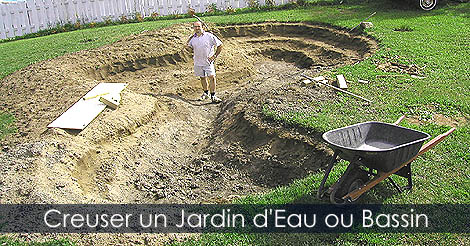 Jardin d 39 eau bassin de jardin les tapes d 39 am nagement for Garden pond building instructions